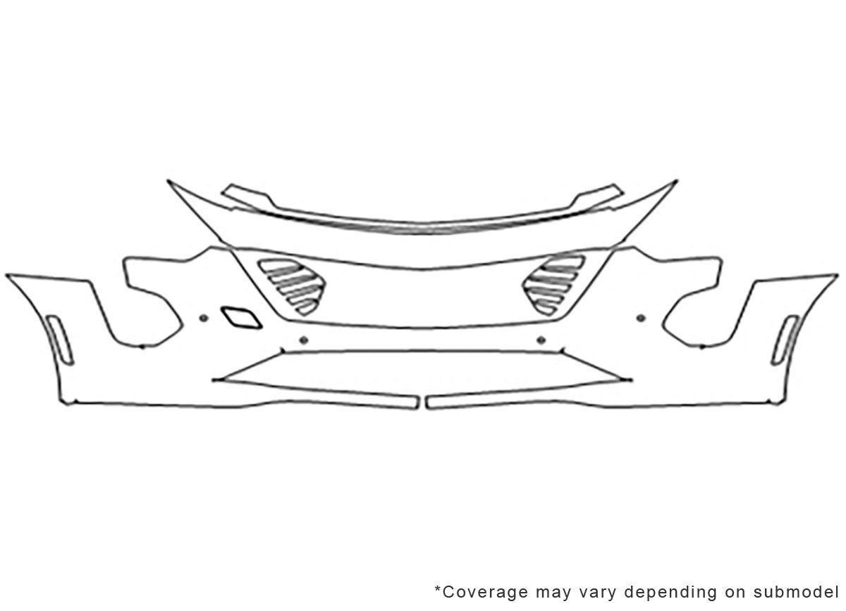 3M™ Cadillac CT6 2019-2020 Bumper Paint Protection Kit
