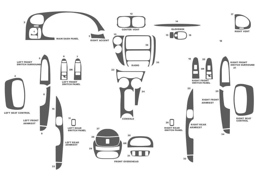 Rtint® Chevrolet Trailblazer 2002-2009 Window Tint Kit