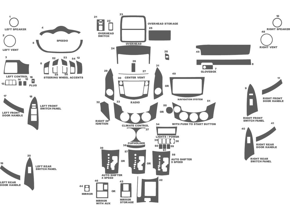 2010 Toyota Rav4 Interior Parts Diagram. Toyota. Auto