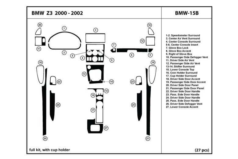1997 bmw 540i fuse card diagram