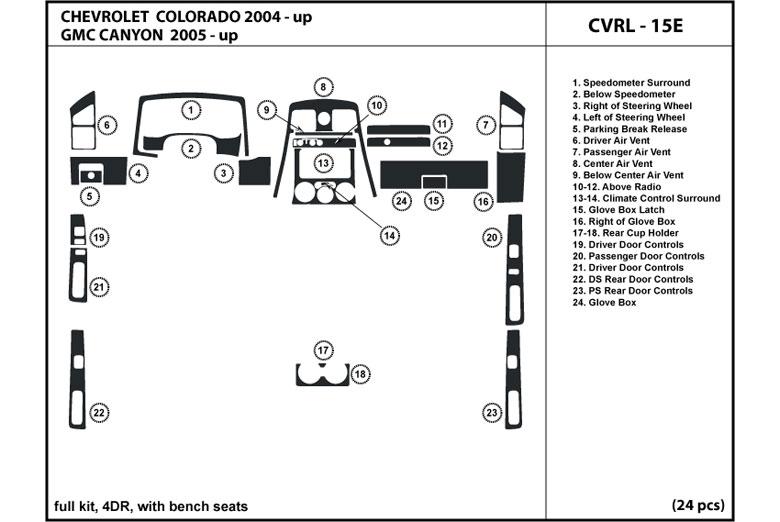 DL Auto® GMC Canyon 2005-2012 Dash Kits