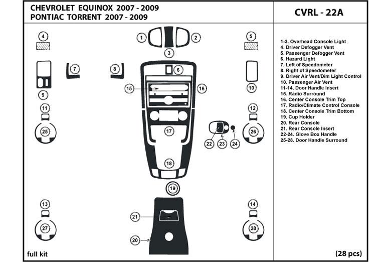2009 Chevy Traverse Dash Parts Diagrams. Diagram. Auto