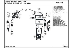 2000 Chrysler Sebring Dash Kits   Custom 2000 Chrysler