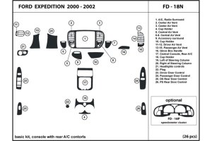 2000 Ford Expedition Dash Kits | Custom 2000 Ford