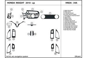 DL Auto® Honda Insight 20102012 Dash Kits