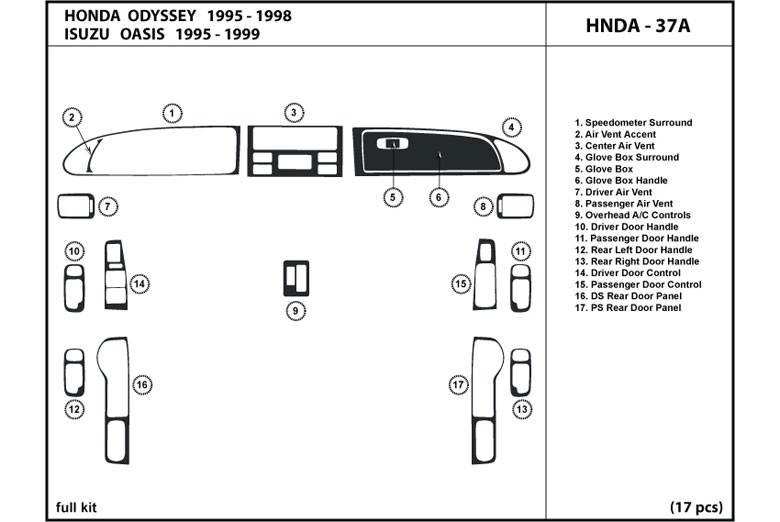 Service manual [1995 Honda Odyssey Rear Dash Removal