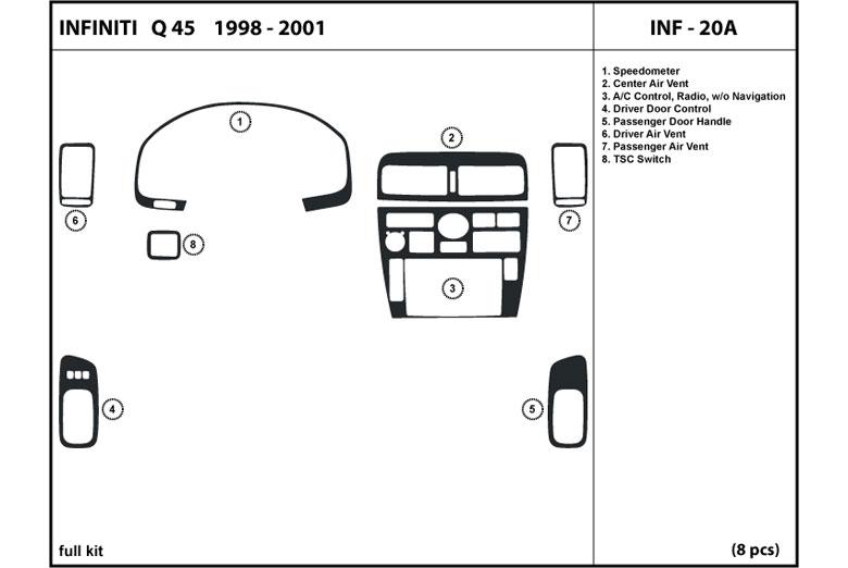 DL Auto® Infiniti Q45 1998-2001 Dash Kits