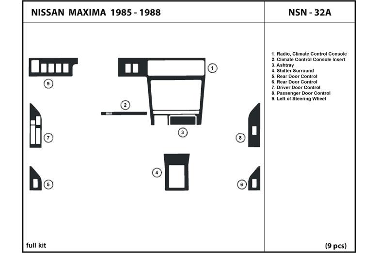 DL Auto® Nissan Maxima 1985-1988 Dash Kits