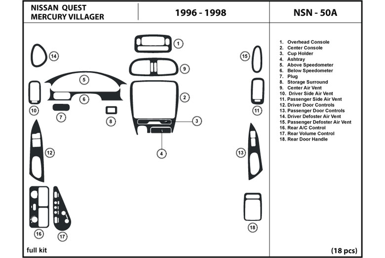 1998 Mercury Villager Manual