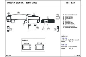 DL Auto® Toyota Sienna 19982000 Dash Kits