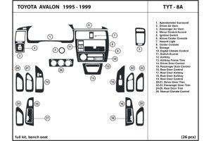 DL Auto® Toyota Avalon 19951999 Dash Kits