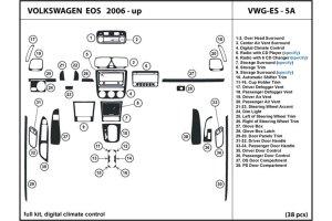 2009 Volkswagen Eos Dash Kits | Wood Trim