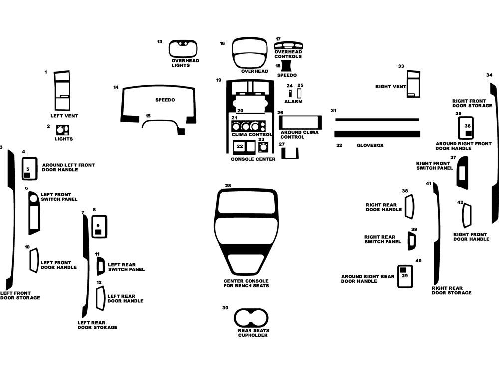 Dodge Dakota Quad Cab W/ Bench Seats 2005-2007 Dash Kits