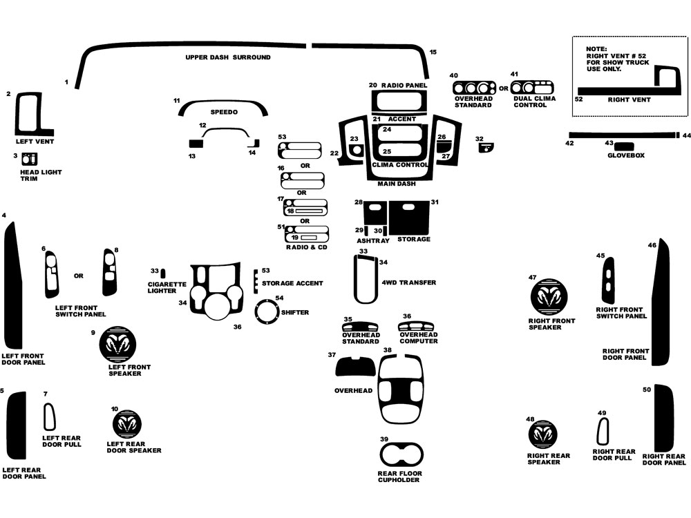 2005 Dodge Ram 1500 Dash Diagram. Dodge. Auto Parts