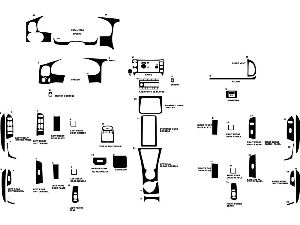 2004 Ford Explorer Sport Trac Dash Diagram