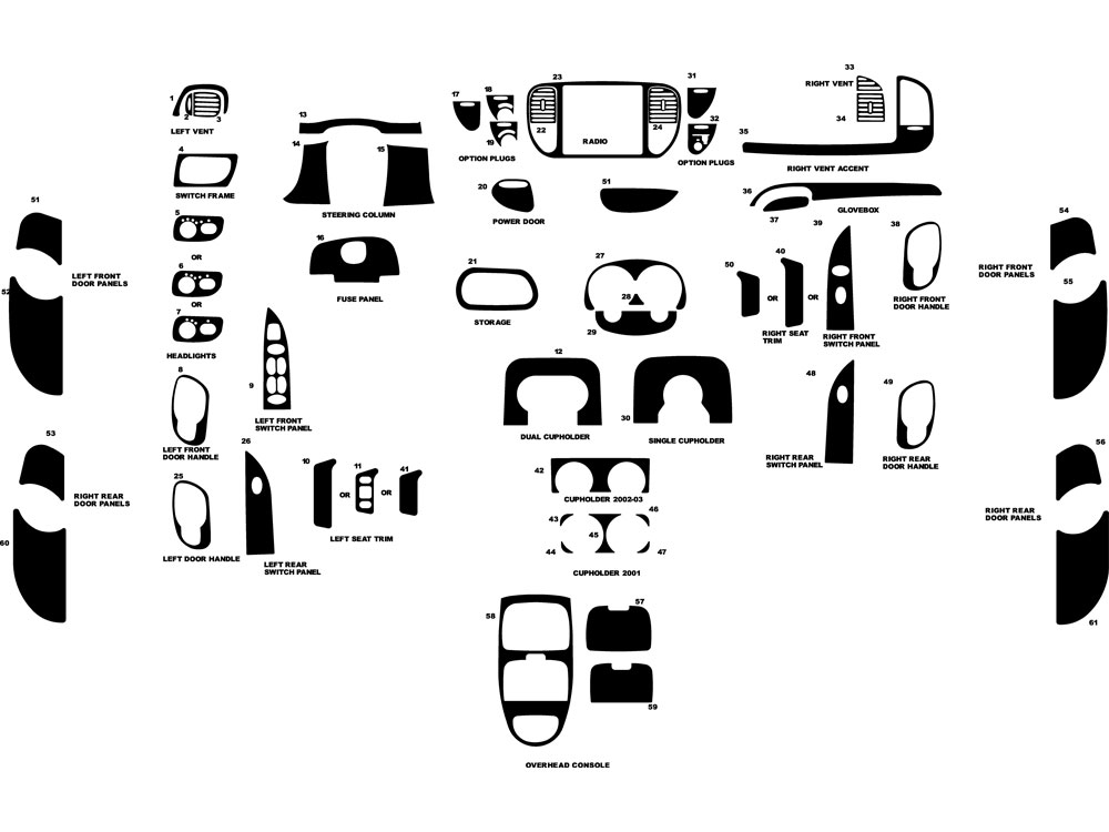 2001 Ford F 150 Dash Diagram. Ford. Auto Parts Catalog And