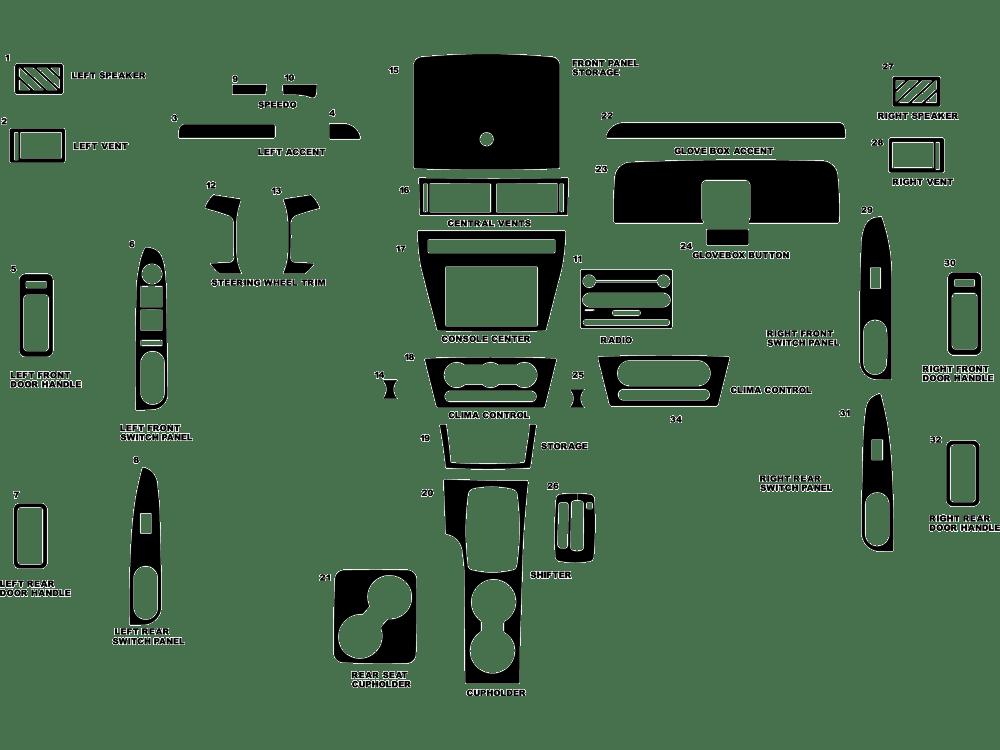 2006 Ford fusion dash kit