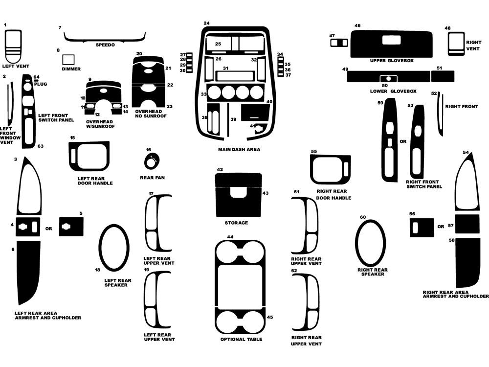 2002 kia sedona dl auto dash kit diagram