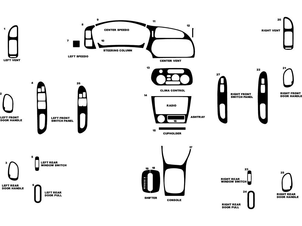 Service manual [2001 Mitsubishi Mirage Remove Dashboard