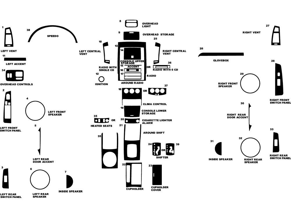2005 Nissan Altima Parts Diagram