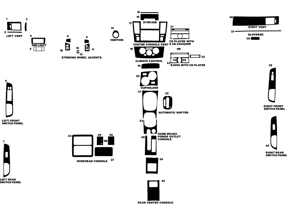 Rtint™ Nissan Versa 2007-2014 Hatchback Window Tint Kit
