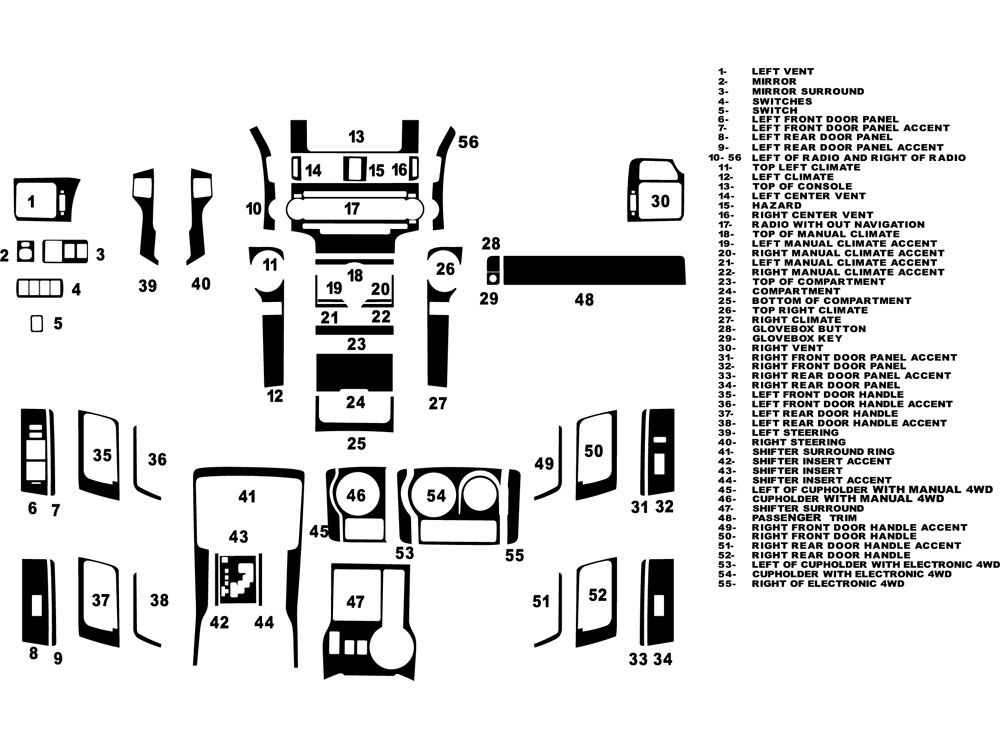 2014 Toyota 4runner Diagram. Toyota. Auto Parts Catalog