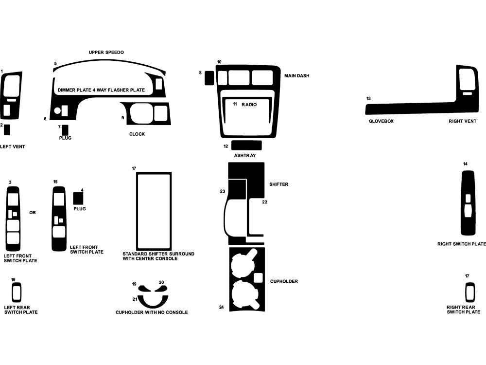 2017 Toyota Tacoma Dash Parts Diagram. Toyota. Auto Wiring
