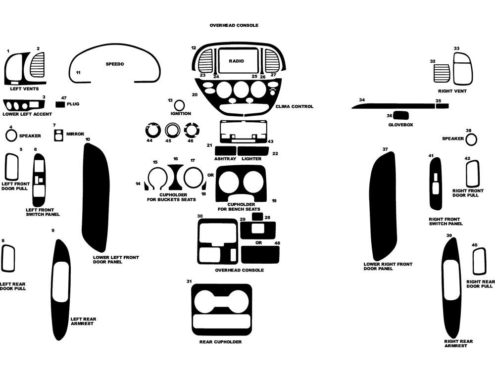 2000 Toyota Tundra Seat Diagram. Toyota. Auto Parts
