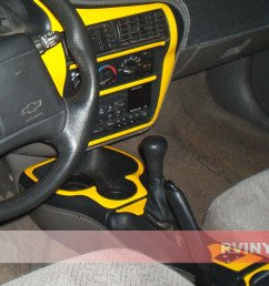 custom gloss yellow chevy cavalier dash kit [ 1024 x 768 Pixel ]