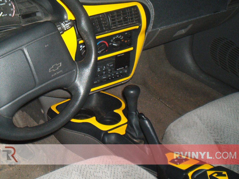 medium resolution of custom gloss yellow chevy cavalier dash kit