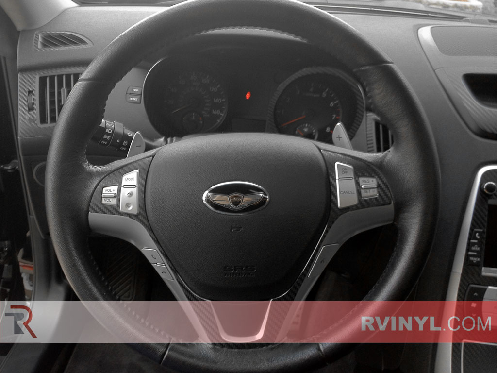 hight resolution of hyundai genesis coupe 2010 2012 dash kits with carbon fiber steering wheel accents