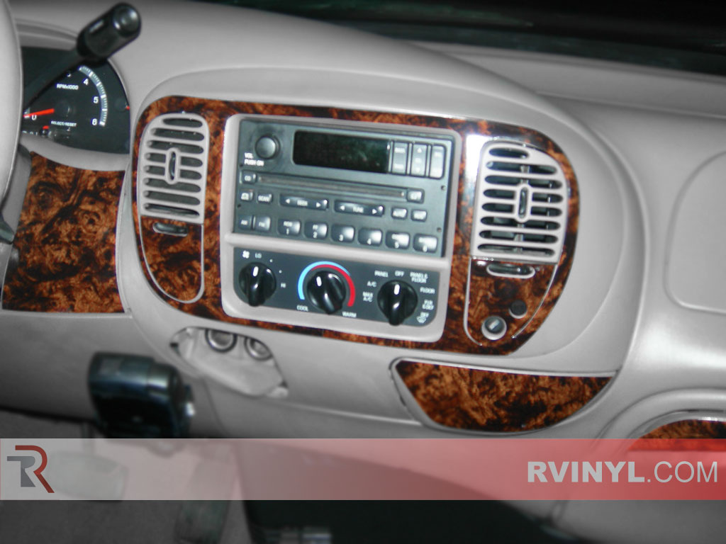 hight resolution of ford f 150 regular cab 2000 2003 dash kits with a burl wood finish