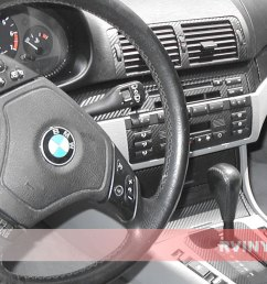 bmw 3 series 1999 2005 custom carbon dash kits [ 1024 x 768 Pixel ]