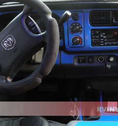 dodge durango 1998 2000 dash kits with blue hvac control trim [ 1024 x 768 Pixel ]