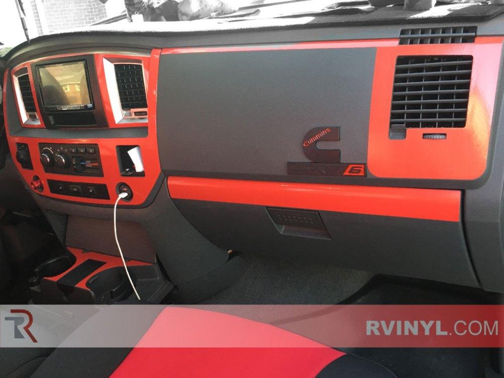 medium resolution of rdash 2006 2008 dodge ram 1500 dash kit gloss red