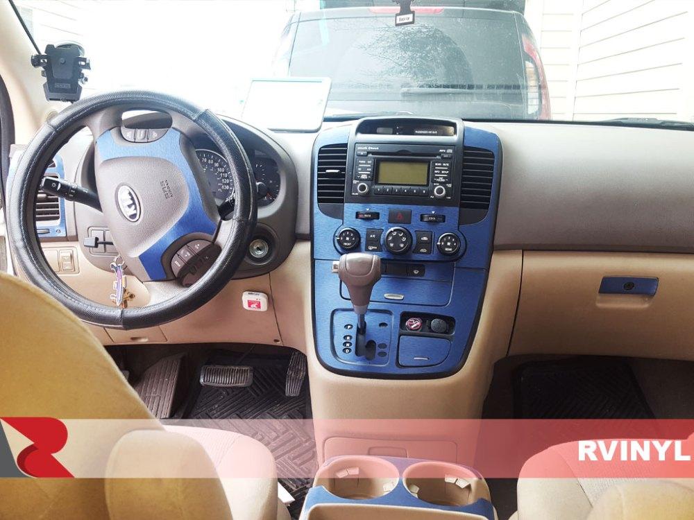 medium resolution of rdash 2006 kia sedona brushed aluminum blue full diy dash trim