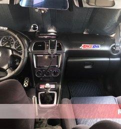 rdash 2005 subaru impreza 3d carbon fiber black driver door custom dash kit [ 1024 x 768 Pixel ]
