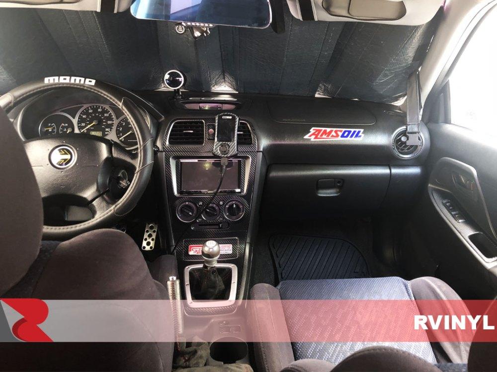 medium resolution of rdash 2005 subaru impreza 3d carbon fiber black driver door custom dash kit