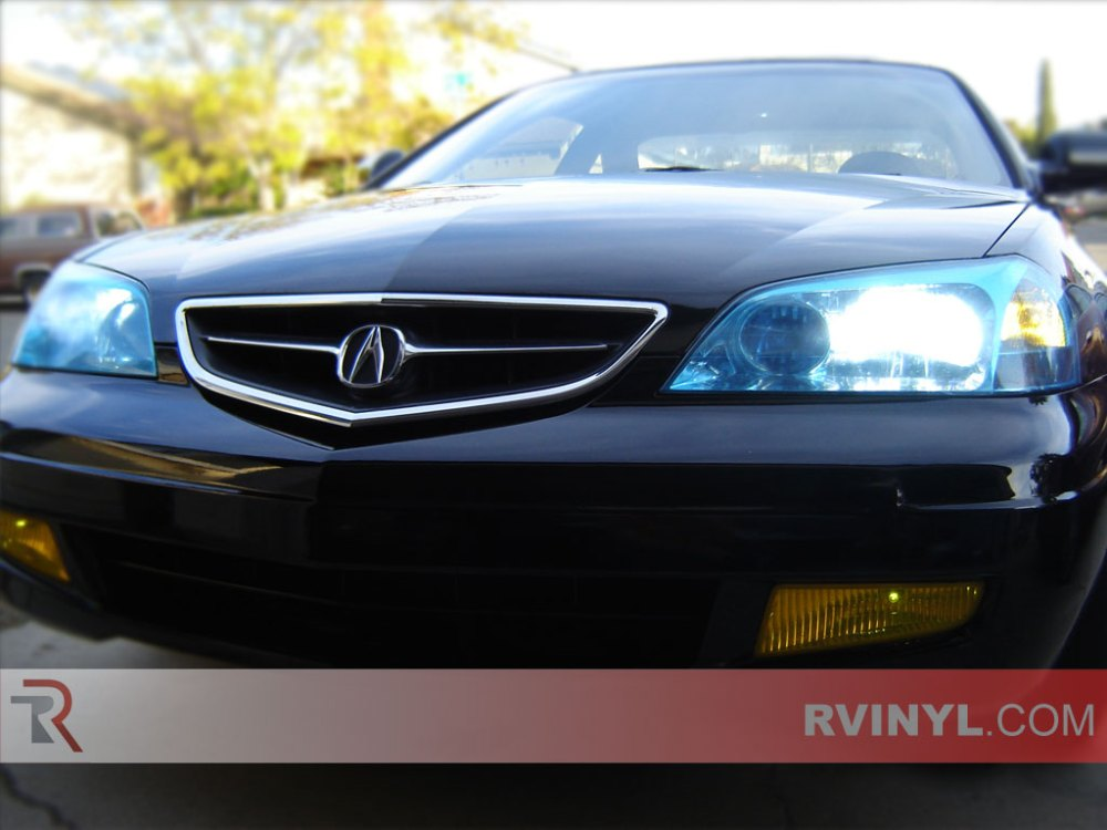 medium resolution of acura cl 2001 2003 blue headlight covers