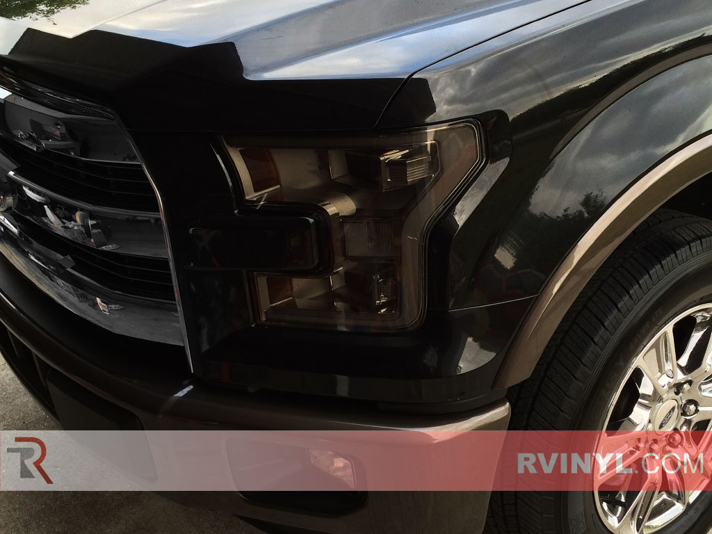 hight resolution of ford f 150 2015 2017 tinted headlights
