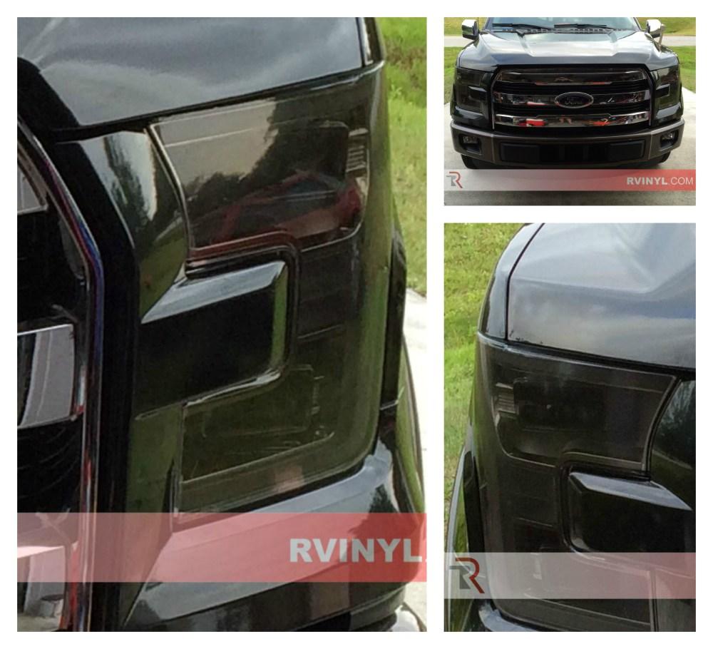 medium resolution of stephen s 2015 ford f 150 with smoke rtint headlight covers