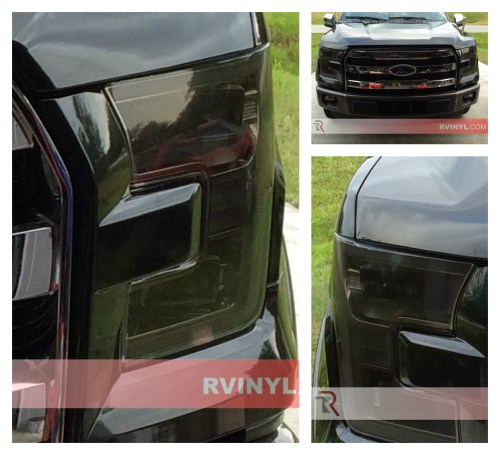 small resolution of stephen s 2015 ford f 150 with smoke rtint headlight covers