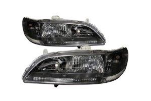 SpecD Tuning® Honda Accord 19982002 Black Euro Headlights