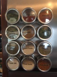 An effective way to save storage space for your RV spices.