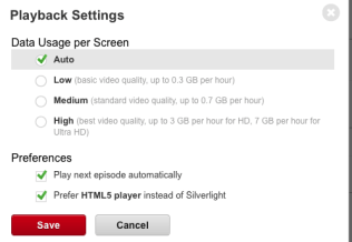 Netflix has always let you set a global resolution preference - the Data Saver will let you temporarily override this on the go.