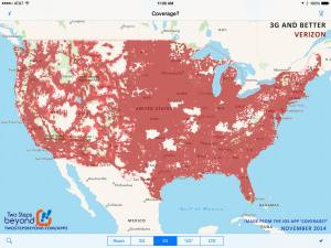 Verizon's Coverage Map - November 2014