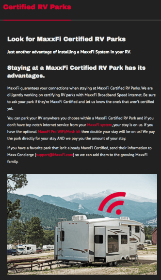 RV parks with guaranteed high-bandwidth WiFi? Awesome!