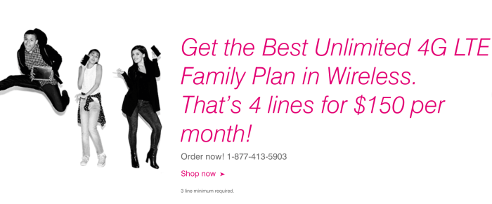New Data Deals T Mobile Family Plans Sprint Based Boost