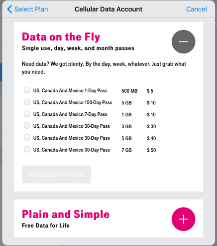 T-Mobile's Apple SIM plan offerings are easy to sign up for.