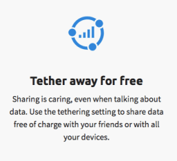 Great to see more prepaid options with tethering included!